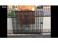 Wrought Iron Black Gates