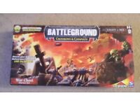 BATTLEGROUND CROSSBOWS & CATAPULTS WAR CHEST STARTER SET - IN AS NEW CONDITION