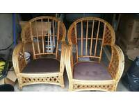 Wicker chairs for sale x 2