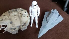 Star Wars Galactic Heroes Millennium Falcon, Star Destroyer and Storm Trooper