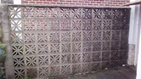 Decorative leaf concrete blocks