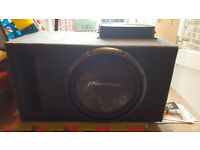 High-quality Pioneer Sub & Amplifier in great condition with custom made sub box