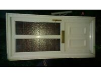 uPVC Glass Pnl Front Door with Frame - Excellent Condition