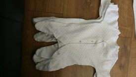 collection of baby grows- newborn sizes- excellent condition