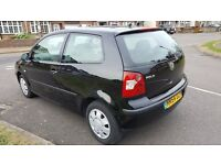 VW Polo 2004 Black Hatchback LOW MILEAGE MOT (04/ 2018). Much loved. LOVELY CAR