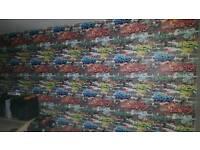 1 Brand new roll graffiti wallpaper