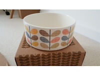 Beautiful Orla Kiely Multi Stem Salad Bowl Fruit Bowl Dia. 24cm BRAND NEW