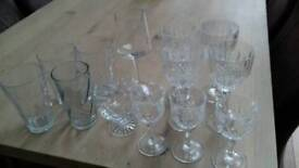 Crystal glasses and tumblers