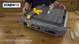 Screwfix used; TITAN 500W TILE CUTTER 230V