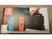 Brand new sealed Nintendo Switch Blue/Neon edition