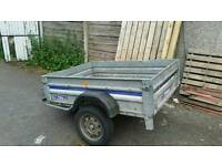5x4 galvanised steel trailer