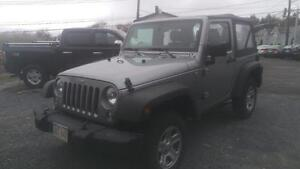 2014 Jeep Wrangler Sport  2 door 6 speed, soft top, Factory warr