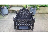 Cast Iron Fire Grate with Ash Pan in Excellent Condition