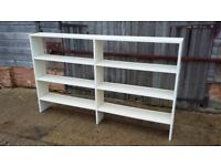 Massive Vintage Painted Bookcase Shelves