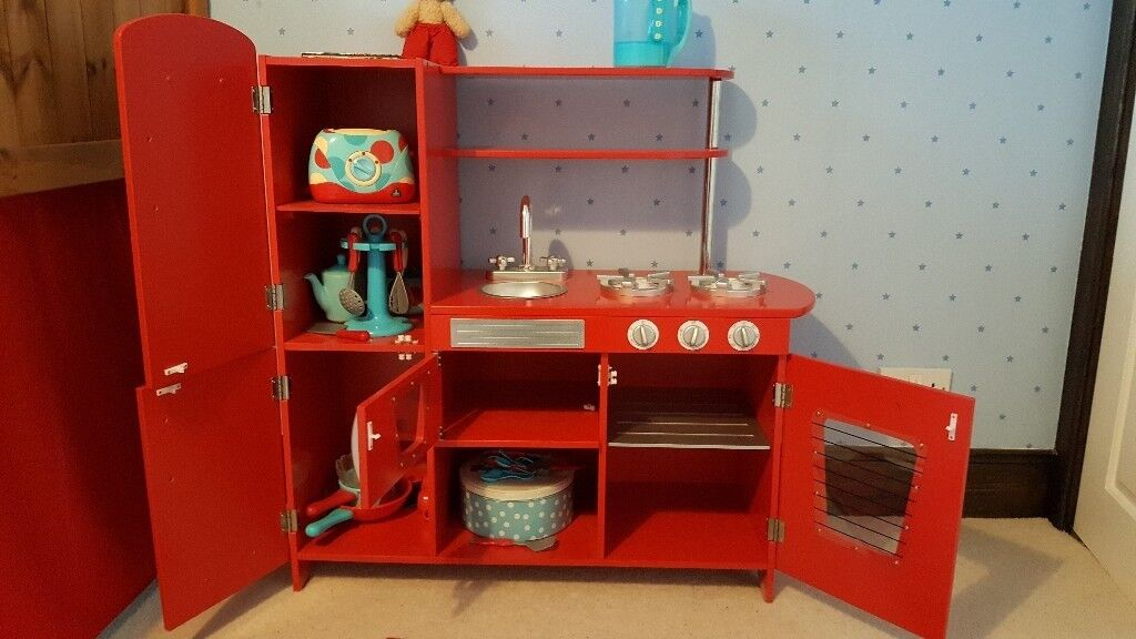 Children S Red Play Kitchen Wood Not The Plastic Stuff