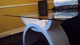 Large glass diningroom table