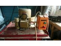 Heavy duty woodworkshop dust extractor