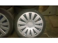vw golf audi alloys 8 hole muti stud set of 4