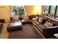 Large Leather Modular Sofa