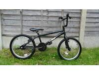 "Bmx black 20"" wheel bike"