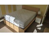Queen bed (frame+mattress)