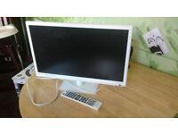 Technika 22 inch white TV/DVD HD 1080p