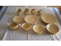 Woods Jasmine Wear. 6 dinner 5 breakfast & 3 side plates, 8 cup & saucers, gravy boat, sugar bowl