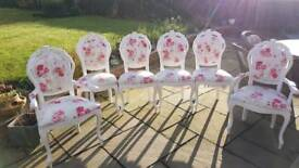 Original antique queen Anne shabby chic chairs