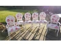 Original antique queen Anne shabby chic chairs