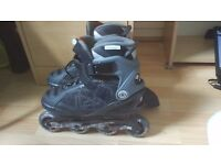 No fear inline skates size 8(knee,elbow and wrist protections included)