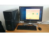 "⭐️ ZALMAN Z1 PC, i5 2500K, 16GB RAM, SSD, WINDOWS 10 PRO, 24"" SCREEN ⭐️"