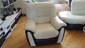 Battery Powered Recliner Leather Armchair