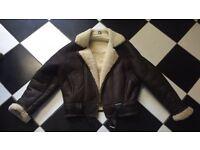 Leather Sheepskin flying jacket