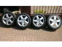 "GENUINE AUDI 17"" ALLOYS WITH TYRES"