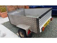 "Car trailer strong aluminium 42""x 60""inches"