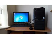 Complete Acer Tower PC Wifi Windows 7 Office Dual Core Processor 4GB RAM 500GB HDD