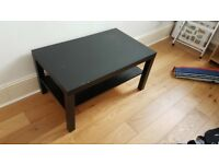 "Ikea Black ""Lack"" Coffee table - FREE - scratched - collection only"