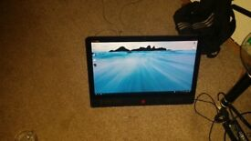 Hp envy 23 touch screen computer black and red