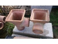 Clay drainage 100mm square top hopper