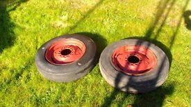 """16"""" fergie wheels... well shot , do for shifting project around workshop."""