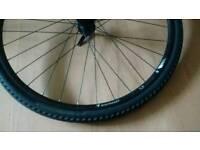 Bontrager TLR front disc brake wheel.