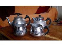 Tea set, with teapot, coffee pot, sugar bowl and milk jug. swan brand. very old!