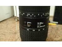 Sigma 70-300 lens. Faulty