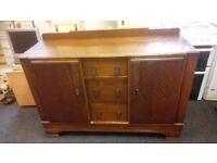 Vintage solid oak sideboard ONLY £75 CHEAP local DELIVERY Stalybridge SK15 2PT