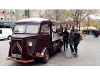 Citroen Hy Van for hire. Weddings, Bar Hire, Parties, Events, Advertising, Festivals, Street food