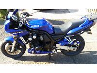 2002 Yamaha Fazer 600 cc motorbike, great condition