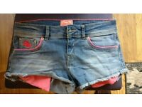 Ladies Superdry Hot Pants Size 8 / W28""