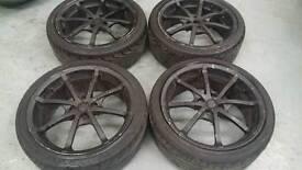 "TSW 17"" 4x100 alloy wheels vauxhall vw mg honda toyota"