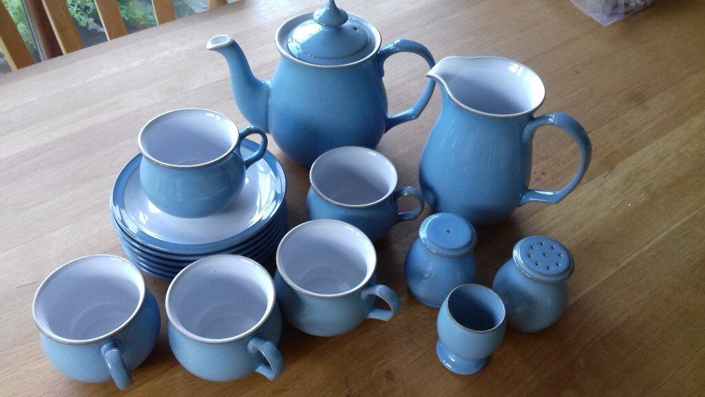 Denby Colonial Blue Tea Service - excellent condition | in Torpoint ...