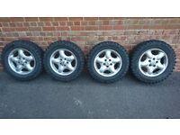 215/65/16 dakar a/t tyres x4 like new